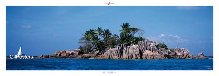 איי סיישלרומנטי ים כייף בודד יופי מקום סירה ירוק
