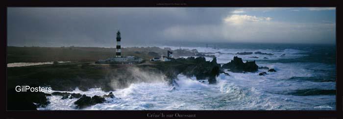 מגדלורים נוף גלים חוף שמים