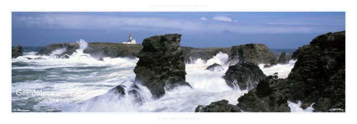 בית ומגדלורחוף סלעים צוק גלים סערה התנפצות