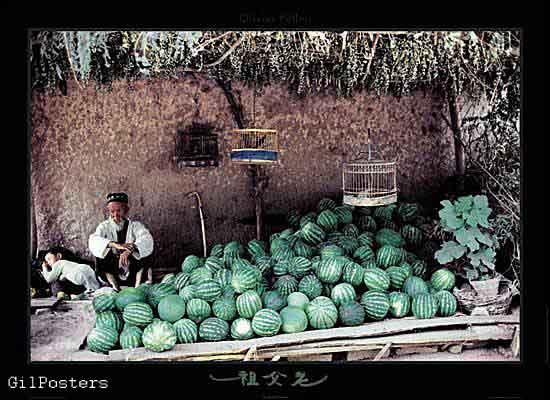 חנות אבטיחים  דרך המשי  - סין