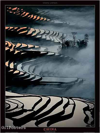 טראסות  - סיןתמונות של שדות צילומים