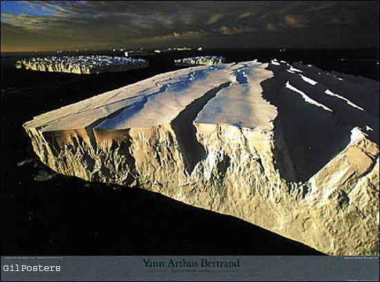 Icebergs off the Adelie Coast, Antarctica