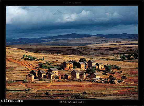 Madagascar  - The village of Amb?rob?