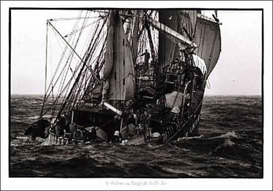 PD-Y237-PHסירה , יאכטה , ספינה , מפרש , שחור , לבן ,ים ,גלים ,