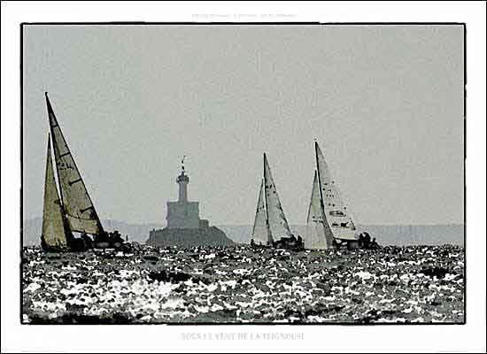 PD-Y352-PHסירה , מפרש , ים, רוח , יאכטה ,גלים , ים , שחור , לבן ,