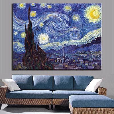 ליל כוכבים - ואן גוךתמונות לסלון תמונות לבית פרויקטים סט תמונות