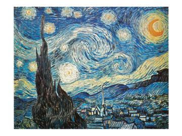 ליל כוכבים - ואן גוך ואן גוך, ליל כוכבים, אמנות, אמנים קלאסיים, וינסנט ואן גוך, ון גוך , כוכבים , לילה