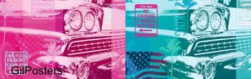 החלום האמריקאי מכונית מכוניות גיימס דין מרלין מונרו כרזה עתיק ענתיקה