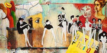 נשים בשדה הקרבדמויות מסיבה דקורציה עיצוב בנות ישיבה מודרני