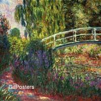 מונה - גן יפניפרחים,נוף, גשר