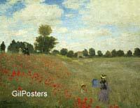 שדה פרגים - קלוד מונהפרחים,נוף, שדה,שדות,ירוק  כלניות