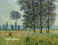 מונה - נשים בשדהפרחים,נוף, פריחה