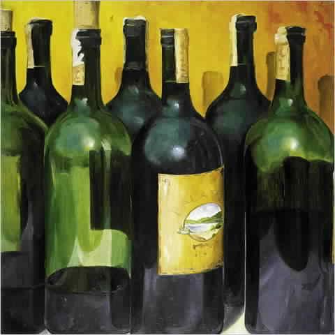 יין רבאגרטל כחול עיצוב בקבוקים שקופים כחולים  ירוקים