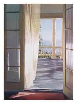 כשהים מופיעים מול החלון נוף פסטורלי רגוע רגיעה כיף טבע כחול שמים