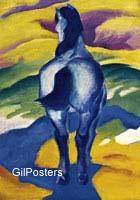 פראנץ מארק -  הסוס הכחול 2חיות סוס אציל נוף