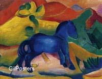 פראנץ מארק - הסוס הכחול בעלי חיים סוסים סוס כחול