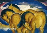 פראנץ מארק- מצעד הסוסים הצהובים סוס יפה