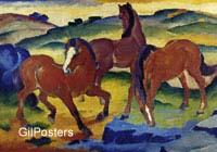 פראנץ מארק - הסוסים האדומיםסוס יפה הרים צבעים נוף פסטורלי