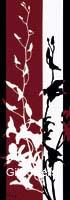 גבעולים 1פרחים דקורציה עיצוב+הבית קו נקי אדום שחור לבן