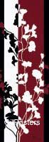 גבעולים 2פרחים דקורציה עיצוב+הבית קו נקי אדום שחור לבן