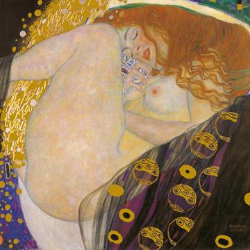 Danae - קלימטגוסטב קלימט, אימפרסיוניזם, אמנות, קלימט, אישה, עירום, אירוטי