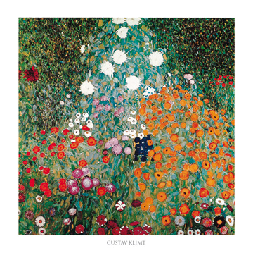 קלימט - גינהגינה , פרחים, אמנים מפורסמים, גוסטב קלימט, גן פורח,