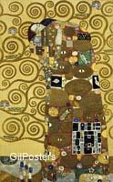 גוסטב קלימט - החיבוקזוג זוגיות דמויות צבע יופי זהב אהבה אבסטרקט נשיקה