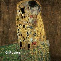 גוסטב קלימט - הנשיקהזוג זוגיות דמויות צבע יופי זהב אהבה אבסטרקט חיבוק