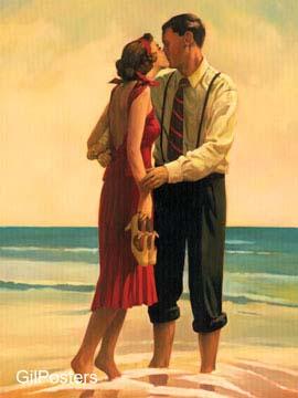 נשיקה פנים דקורציה עיצוב מודרני זוג זוגיות חיבוק ים חוף