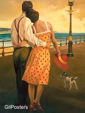 מבט אל המפרץנשיקה פנים דקורציה עיצוב מודרני זוג זוגיות חיבוק ים חוף