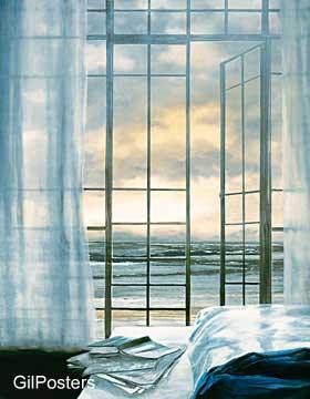 בית מול האוקינוס האטלנטירומנטי חלון נוף ים יופי כחול