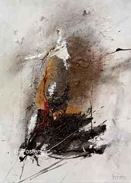 ערבוב צבעים 1מופשט שחור חום אפור אבסטרקטי מודרני דקורטיבי כתמים