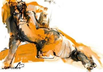 אישה גוף רגליים סקסי רישום ציורים_עירום