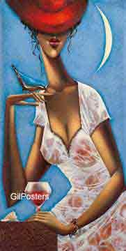 אישה עם כוס יין 2 אשה דוגמנית אתנית עיצוב חדר שינה ליידי גברת בלבן