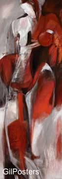עירום באדום 2  אישה גוף רגליים סקסי רישום ציורים_עירום