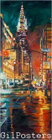 ניו יורק  -  מנהטן  בניין קרייזלר - לילהניו יורק  -  מנהטן  בניין קרייזלר - לילה
