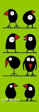 ציפור מקור נאיבי ילדותי ירוק