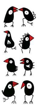 בואי נלך ונדברציפורים מקור נאיבי שחור לבן