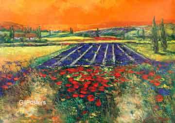 פרובנסשדה פסטורלי פריחה יופי צבעוני