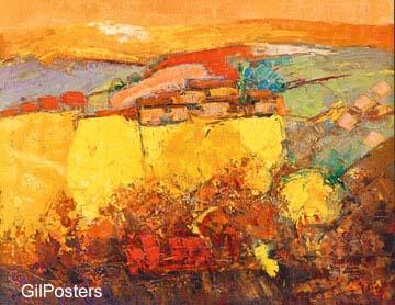 נוף חםתמונה צבע חום כתום מודרני צבעוני