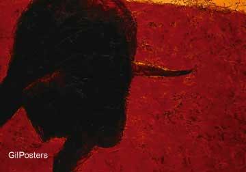 מאבק השוראדום צבע כתום מודרני בעלי חיים תנוחה