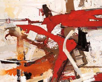 מציאות 2אדום לבן שחור אבסטרקט מודרני