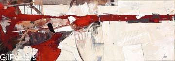 אדום ולבןאדום צבע  מודרני שחור לבן גרפיקה קווים מופשט דקורציה