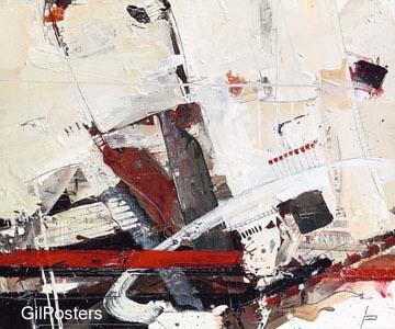 אדום צבע ציור מודרני שחור לבן גרפיקה קווים מופשט דקורציה