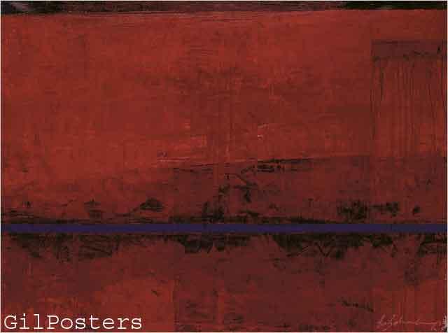 מלבןריבוע אדום חום מודרני כתם צבע