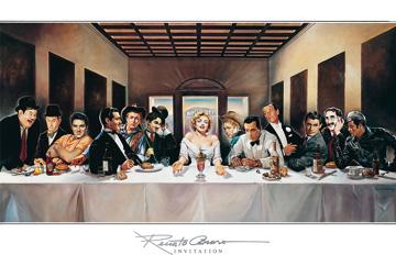 הסעודה האחרונה -  כוכבי קולנועסרטים ישנים  הסעודה האחרונה, כוכבי קולנוע, מרלין מונרו, לורל והארדי, ג'יימס דין, אלוויס , קולנוע קלאסי