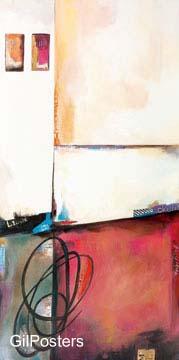 סימביוזה 1דקורציה קישוט חדר אוכל סלון ציור מודרני מופשט צבעוני כתום חום