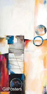 סימביוזה 2דקורציה קישוט חדר אוכל סלון ציור מודרני מופשט צבעוני כתום חום