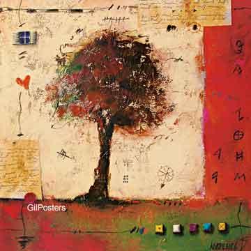 עץ נאיבי 2דקורטיבי עיצוב טבע צבע שניים
