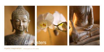 השראה מיסטיתדמות אוריינטלית פסל מזרח זהב פרח